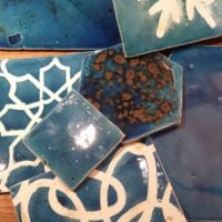 Ceramiche decorate Blu vari decori